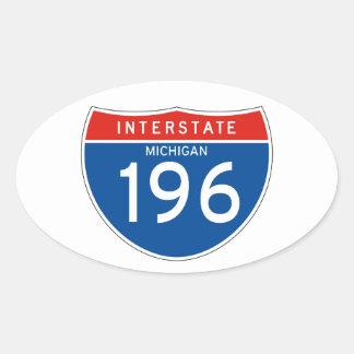 Interstate Sign 196 - Michigan Oval Sticker