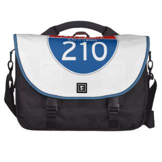 Interstate Sign 210 - California Laptop Bags