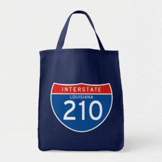 Interstate Sign 210 - Louisiana Tote Bag