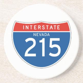 Interstate Sign 215 - Nevada Beverage Coasters