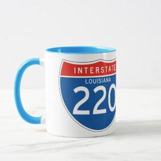 Interstate Sign 220 - Louisiana Mug
