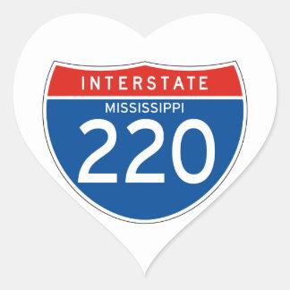 Interstate Sign 220 - Mississippi Heart Sticker