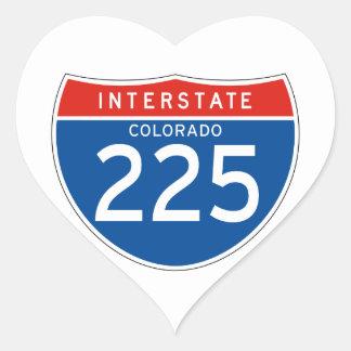 Interstate Sign 225 - Colorado Heart Sticker