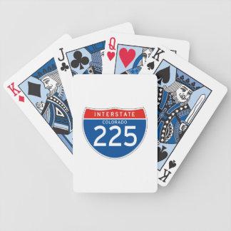 Interstate Sign 225 - Colorado Bicycle Card Deck