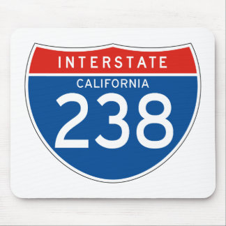Interstate Sign 238 - California Mouse Pad