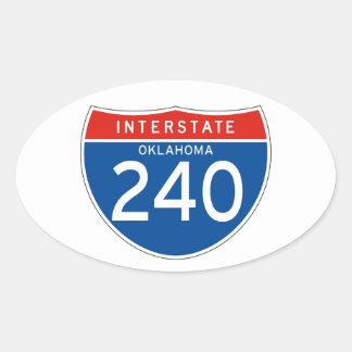 Interstate Sign 240 - Oklahoma Oval Sticker