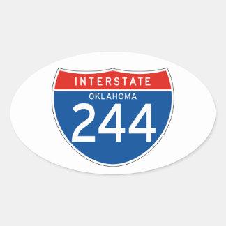 Interstate Sign 244 - Oklahoma Oval Sticker