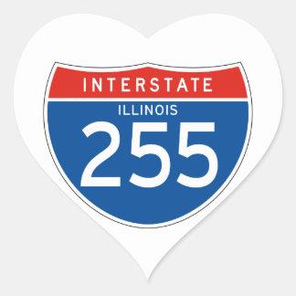 Interstate Sign 255 - Illinois Heart Sticker
