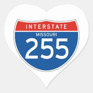 Interstate Sign 255 - Missouri Heart Sticker