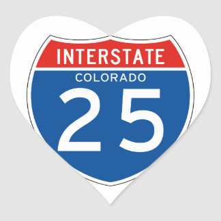 Interstate Sign 25 - Colorado Heart Sticker