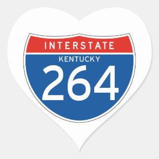 Interstate Sign 264 - Kentucky Heart Sticker
