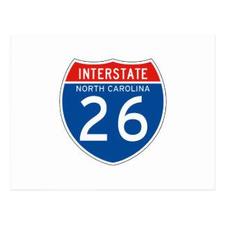 Interstate Sign 26 - North Carolina Postcard