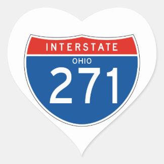 Interstate Sign 271 - Ohio Heart Sticker