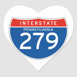 Interstate Sign 279 - Pennsylvania Heart Sticker
