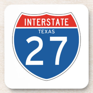 Interstate Sign 27 - Texas Drink Coasters