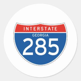 Interstate Sign 285 - Georgia Classic Round Sticker