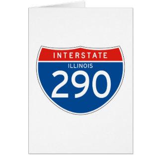 Interstate Sign 290 - Illinois Card