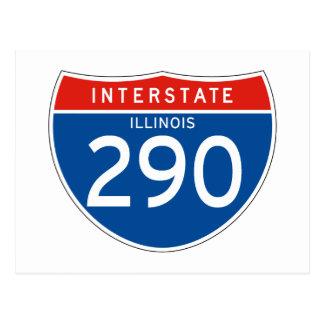 Interstate Sign 290 - Illinois Postcard