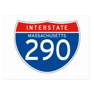 Interstate Sign 290 - Massachusetts Postcard