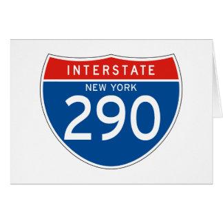 Interstate Sign 290 - New York Card