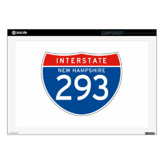 """Interstate Sign 293 - New Hampshire 17"""" Laptop Skin"""