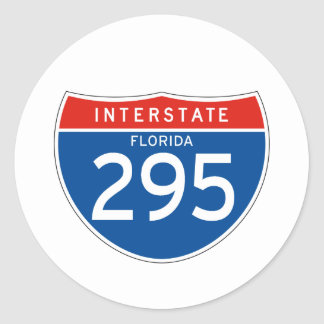 Interstate Sign 295 - Florida Classic Round Sticker