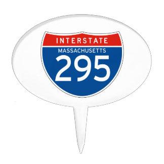 Interstate Sign 295 - Massachusetts Cake Picks