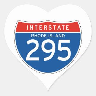 Interstate Sign 295 - Rhode Island Heart Sticker