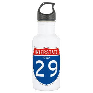 Interstate Sign 29 - Iowa 18oz Water Bottle