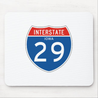 Interstate Sign 29 - Iowa Mouse Pad