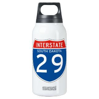 Interstate Sign 29 - South Dakota Insulated Water Bottle