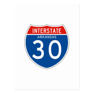 Interstate Sign 30 - Arkansas Postcard