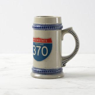 Interstate Sign 370 - Maryland 18 Oz Beer Stein