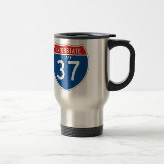 Interstate Sign 37 - Texas Travel Mug