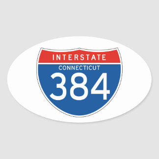 Interstate Sign 384 - Connecticut Stickers