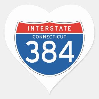 Interstate Sign 384 - Connecticut Sticker
