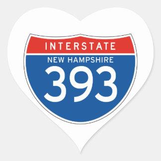 Interstate Sign 393 - New Hampshire Heart Sticker