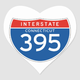 Interstate Sign 395 - Connecticut Stickers