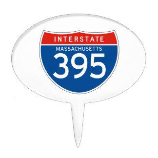 Interstate Sign 395 - Massachusetts Cake Topper
