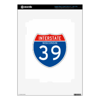 Interstate Sign 39 - Wisconsin iPad 3 Decal