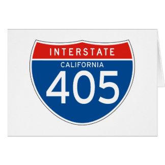 Interstate Sign 405 - California Greeting Card