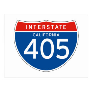 Interstate Sign 405 - California Post Cards