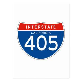 Interstate Sign 405 - California Post Card