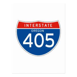 Interstate Sign 405 - Oregon Post Cards