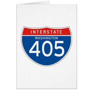 Interstate Sign 405 - Washington Greeting Card