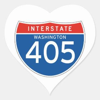 Interstate Sign 405 - Washington Heart Sticker