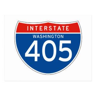 Interstate Sign 405 - Washington Post Card