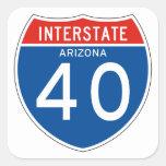 Interstate Sign 40 - Arizona Square Sticker