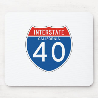 Interstate Sign 40 - California Mouse Pad
