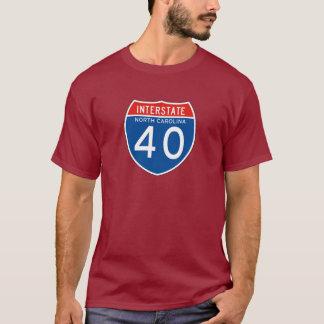 Interstate Sign 40 - North Carolina T-Shirt